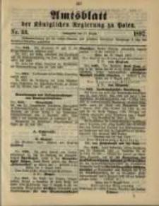 Amtsblatt der Königlichen Regierung zu Posen. 1897.08.17 Nro.33