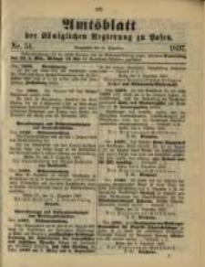 Amtsblatt der Königlichen Regierung zu Posen. 1897.12.21 Nro.51