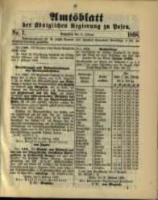Amtsblatt der Königlichen Regierung zu Posen. 1898.02.15 Nro.7
