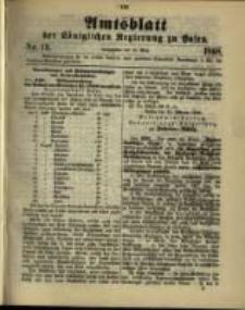 Amtsblatt der Königlichen Regierung zu Posen. 1898.03.29 Nro.13