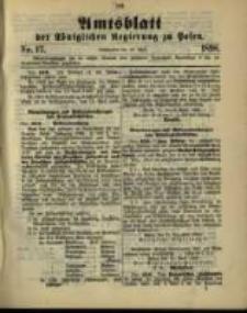 Amtsblatt der Königlichen Regierung zu Posen. 1898.04.26 Nro.17