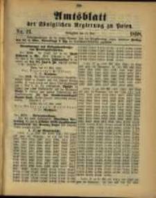 Amtsblatt der Königlichen Regierung zu Posen. 1898.05.24 Nro.21