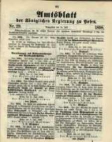 Amtsblatt der Königlichen Regierung zu Posen. 1898.07.19 Nro.29