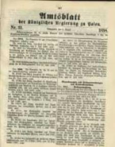 Amtsblatt der Königlichen Regierung zu Posen. 1898.08.02 Nro.31