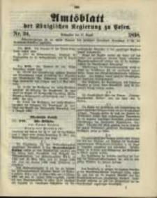 Amtsblatt der Königlichen Regierung zu Posen. 1898.08.23 Nro.34