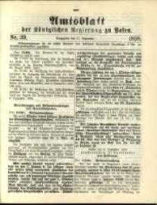 Amtsblatt der Königlichen Regierung zu Posen. 1898.09.27 Nro.39