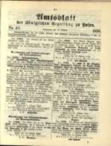 Amtsblatt der Königlichen Regierung zu Posen. 1898.10.25 Nro.43
