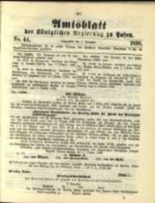 Amtsblatt der Königlichen Regierung zu Posen. 1898.11.01 Nro.44