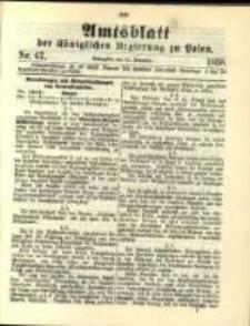 Amtsblatt der Königlichen Regierung zu Posen. 1898.11.22 Nro.47
