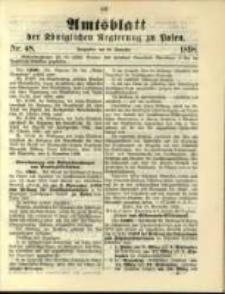 Amtsblatt der Königlichen Regierung zu Posen. 1898.11.29 Nro.48