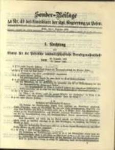 Sonder- Beilage zu Nr. 49 des Amtsblatt der Kgl. Regierung zu Posen