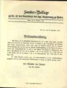 Sonder- Beilage zu Nr. 52 des Amtsblatt der Kgl. Regierung zu Posen
