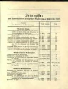 Sachregister .. für 1898