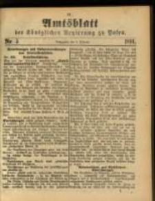Amtsblatt der Königlichen Regierung zu Posen. 1891.02.03 Nro.5