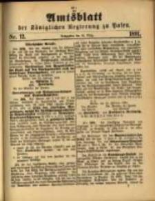 Amtsblatt der Königlichen Regierung zu Posen. 1891.03.24 Nro.12