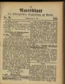 Amtsblatt der Königlichen Regierung zu Posen. 1891.07.14 Nro.28