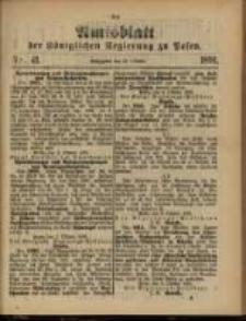 Amtsblatt der Königlichen Regierung zu Posen. 1891.10.13 Nro.41