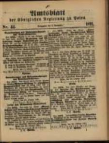 Amtsblatt der Königlichen Regierung zu Posen. 1891.11.03 Nro.44