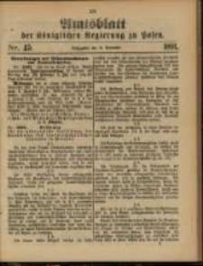 Amtsblatt der Königlichen Regierung zu Posen. 1891.11.10 Nro.45