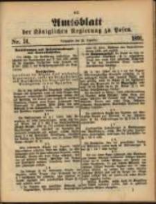 Amtsblatt der Königlichen Regierung zu Posen. 1891.12.22 Nro.51