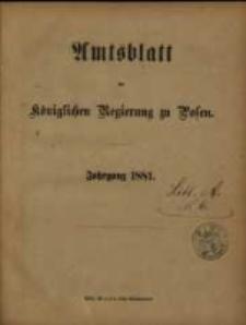 Amtsblatt der Königlichen Regierung zu Posen. 1881.01.04 Nro.1
