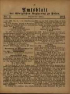Amtsblatt der Königlichen Regierung zu Posen. 1881.02.05 Nro.5