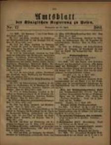Amtsblatt der Königlichen Regierung zu Posen. 1881.04.26 Nro.17