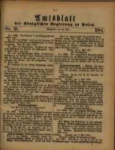 Amtsblatt der Königlichen Regierung zu Posen. 1881.05.24 Nro.21