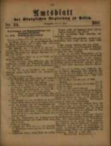 Amtsblatt der Königlichen Regierung zu Posen. 1881.06.14 Nro.24