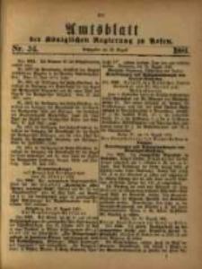 Amtsblatt der Königlichen Regierung zu Posen. 1881.08.23 Nro.34