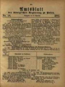 Amtsblatt der Königlichen Regierung zu Posen. 1881.09.20 Nro.38