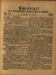 Amtsblatt der Königlichen Regierung zu Posen. 1881.10.11 Nro.41