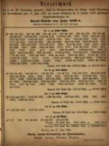 Verzeichniss …. vom 17. Juni 1881 … am 2. Januar 1882.... Staats - Auleihe vom Jahre 1868 A
