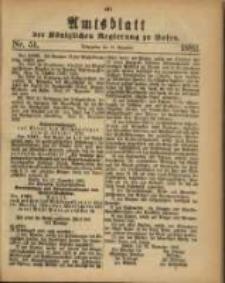 Amtsblatt der Königlichen Regierung zu Posen. 1882.12.19 Nro.51