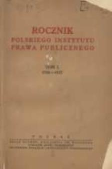 Rocznik Polskiego Instytutu Prawa Publicznego 1936/1937 T.1