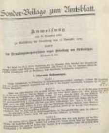 Sonder - Beilage zum Amtsblatt