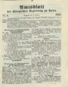 Amtsblatt der Königlichen Regierung zu Posen. 1900.02.20 Nro.8