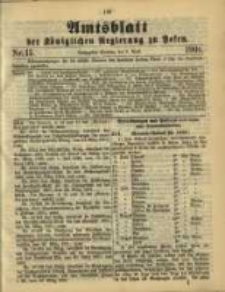 Amtsblatt der Königlichen Regierung zu Posen. 1901.04.09 Nro.15