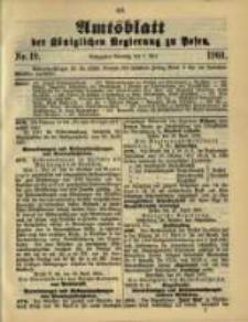 Amtsblatt der Königlichen Regierung zu Posen. 1901.05.07 Nro.19