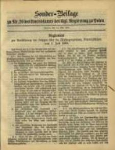 Sonder- Beilage zu Nr. 20 des Amtsblatt der Kgl. Regierung zu Posen