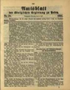 Amtsblatt der Königlichen Regierung zu Posen. 1901.07.09 Nro.28