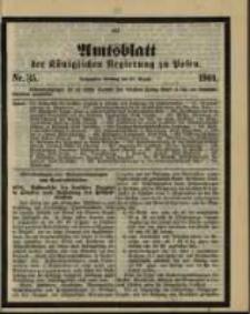 Amtsblatt der Königlichen Regierung zu Posen. 1901.08.27 Nro.35