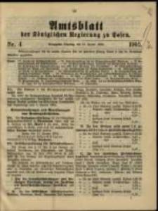 Amtsblatt der Königlichen Regierung zu Posen. 1905.01.24 Nro.4