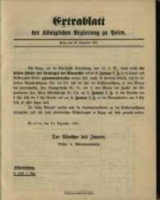 Extrablatt der Königlichen Regierung zu Posen