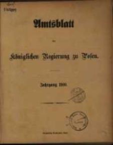 Amtsblatt der Königlichen Regierung zu Posen. 1910.01.04 Nro.1