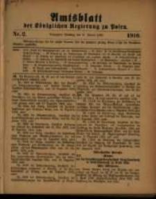 Amtsblatt der Königlichen Regierung zu Posen. 1910.01.11 Nro.2