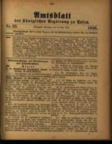 Amtsblatt der Königlichen Regierung zu Posen. 1910.05.31 Nro.22