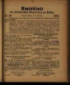 Amtsblatt der Königlichen Regierung zu Posen. 1910.07.26 Nro.30