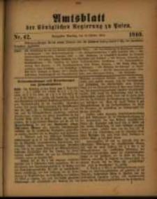 Amtsblatt der Königlichen Regierung zu Posen. 1910.10.18 Nro.42