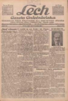 """Lech.Gazeta Gnieźnieńska: codzienne pismo polityczne dla wszystkich stanów. Dodatki: tygodniowy """"Lechita"""" i powieściowy oraz dwutygodnik """"Leszek"""" 1932.09.16 R.33 Nr213"""